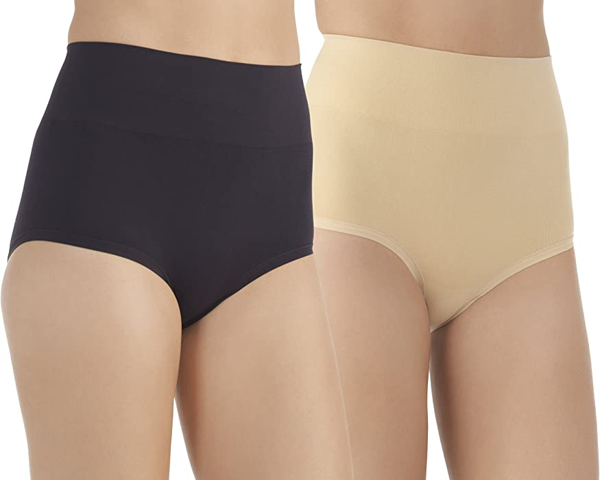 b7429497ec7 Vassarette Women s Comfortably Smooth Brief 2-Pack Panty 13274 ...