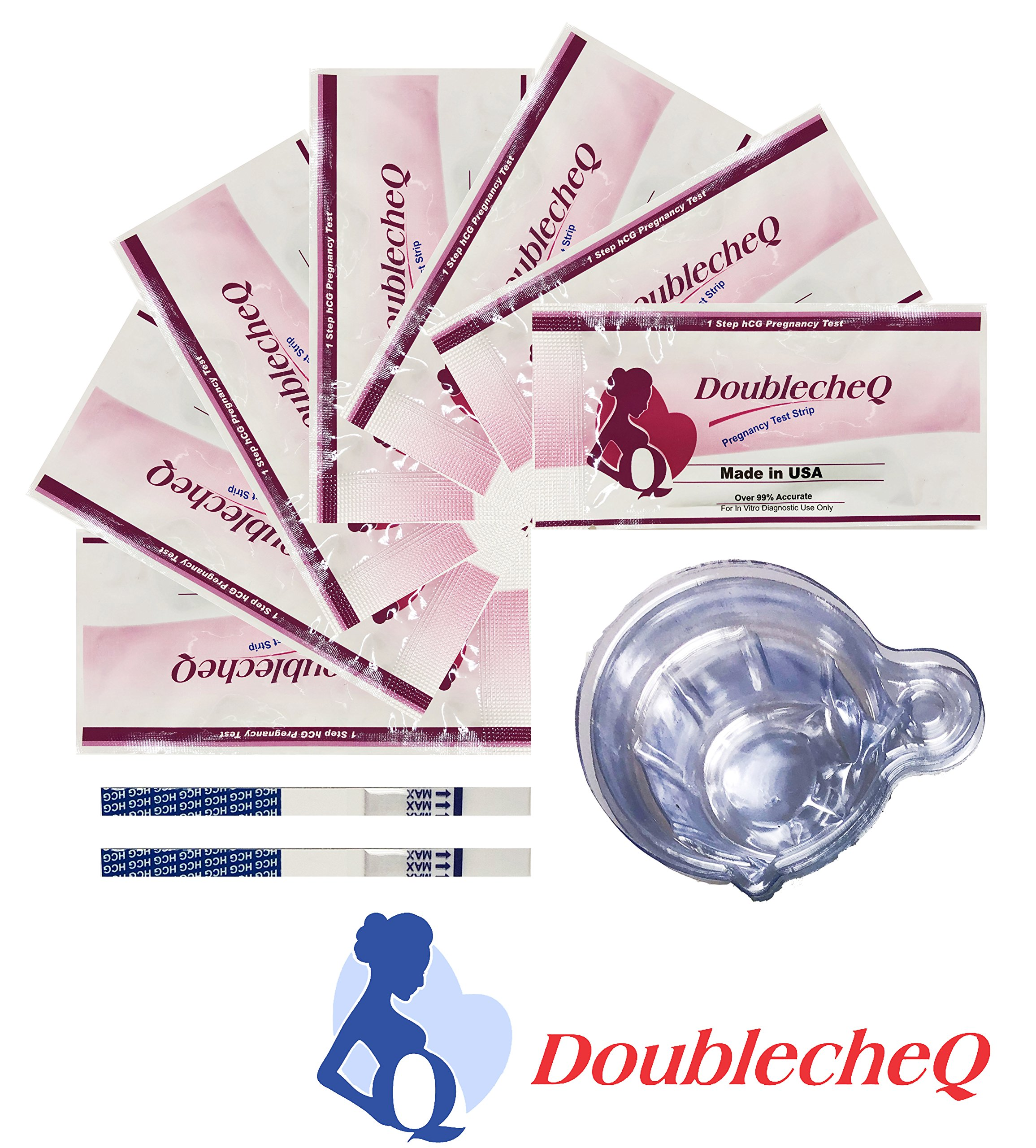 【Made in USA】Pregnancy Test Strips 20 HCG with Disposable Urine Cups