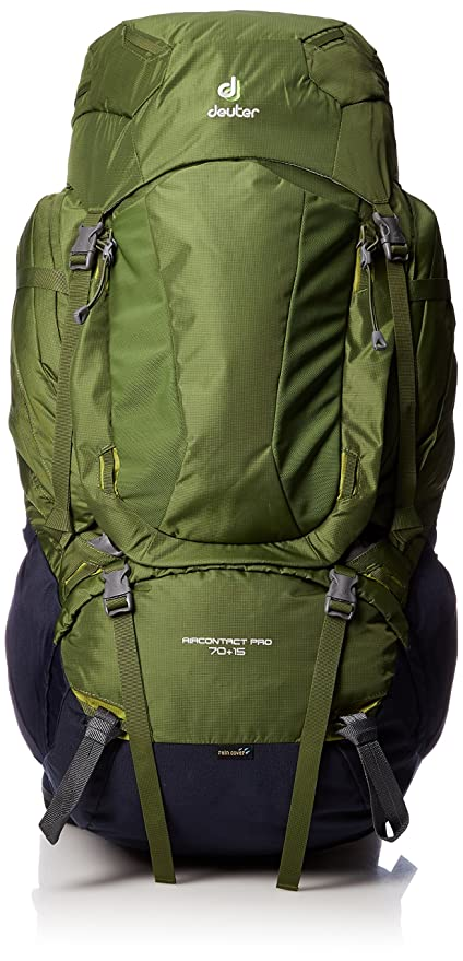 Deuter AirContact Pro 70 + 15 - Trekking Backpack with Daypack, Pine / Navy