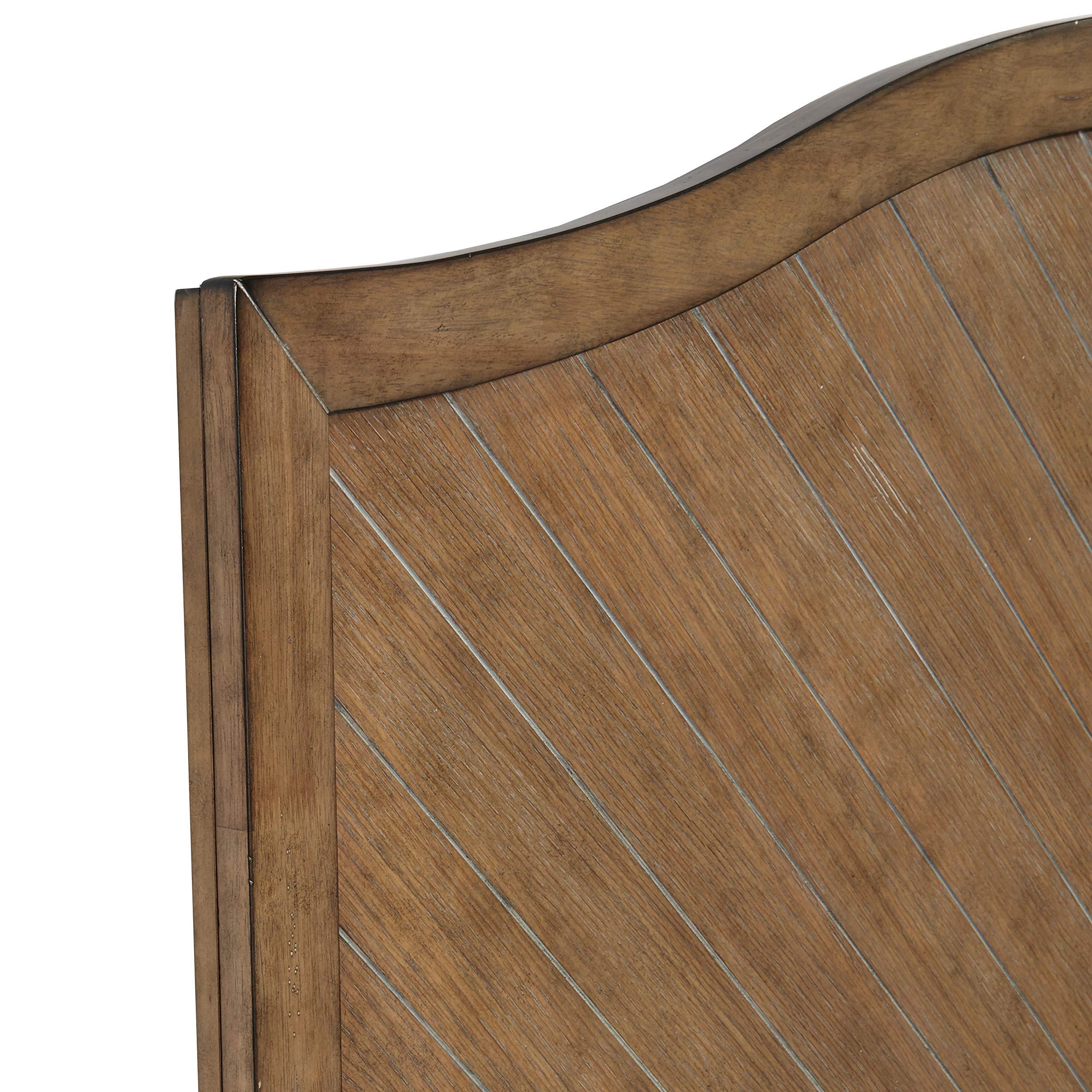 Pulaski DS-D112001 Camel Back Chevron Patterned Wood Headboard, Queen, Brown