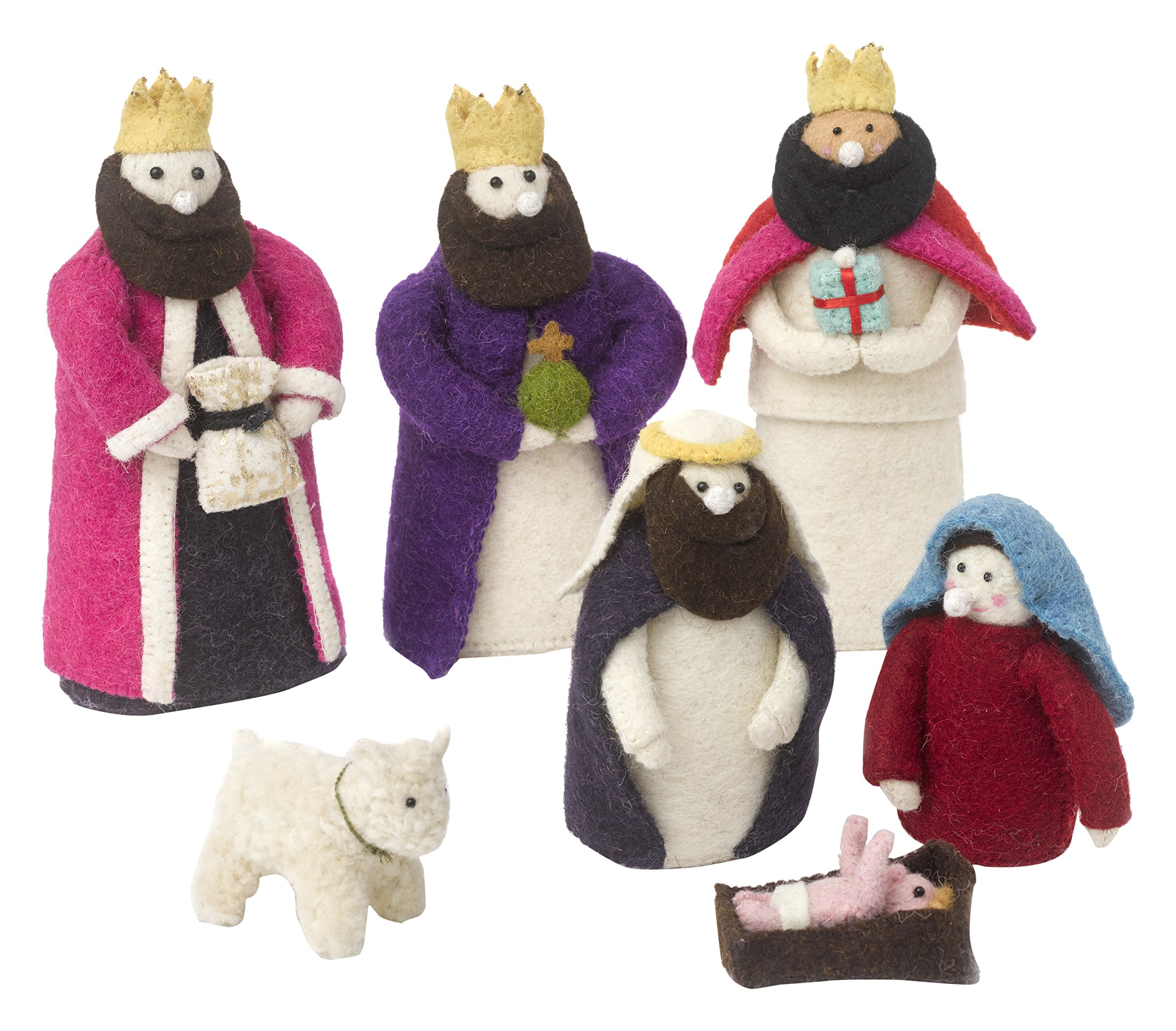 Arcadia Home Nativity Scene in Hand Felted Wool by Arcadia Home