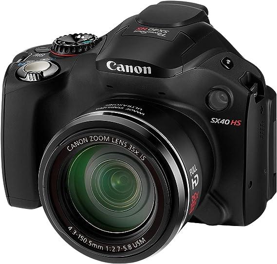 Canon PowerShot SX40 HS Cámara compacta digital (negro): Amazon.es ...