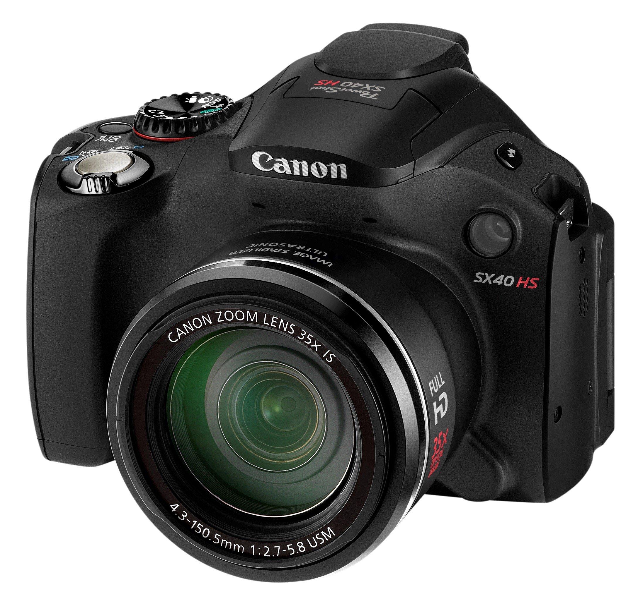 Canon PowerShot SX40 HS Fotocamera Compatta Digitale 12.1 Megapixel, Zoom ottico 35x, Processore DIGIC5, colore: Nero product image