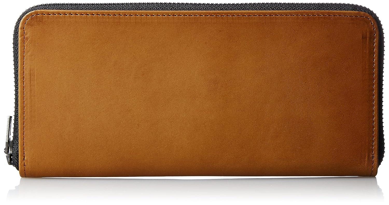 [ヴィンテージリバイバルプロダクションズ] 財布 roundzip slim oil leather 日本製 59230 B01MA5U928 ブラウン ブラウン