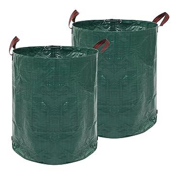 JNEGlo - Bolsas de basura para jardín, incluye 2 bolsas de ...