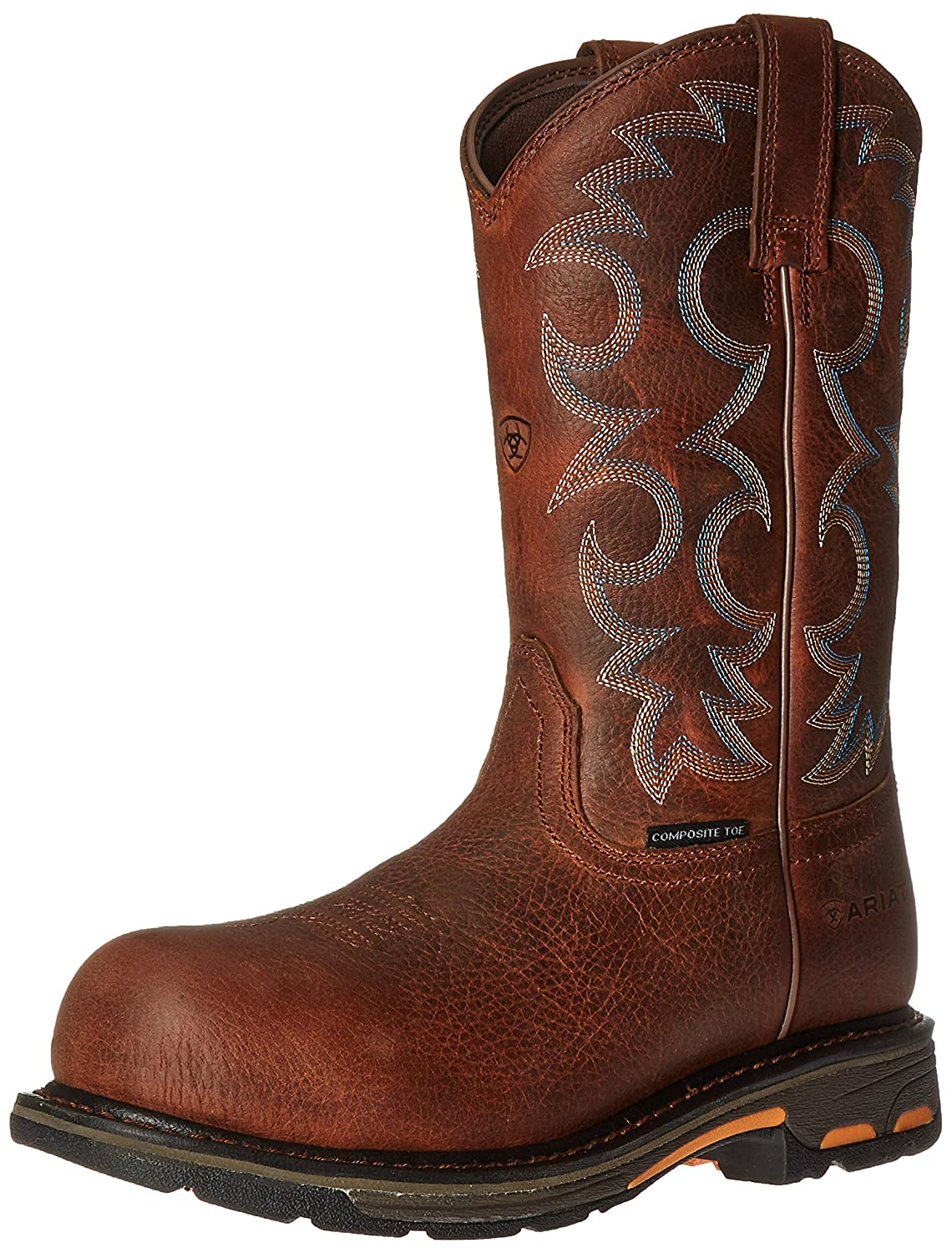 Ariat Women's Workhog Composite Toe Work Boot B01BQT6PVQ 9 W US|Nutty Brown