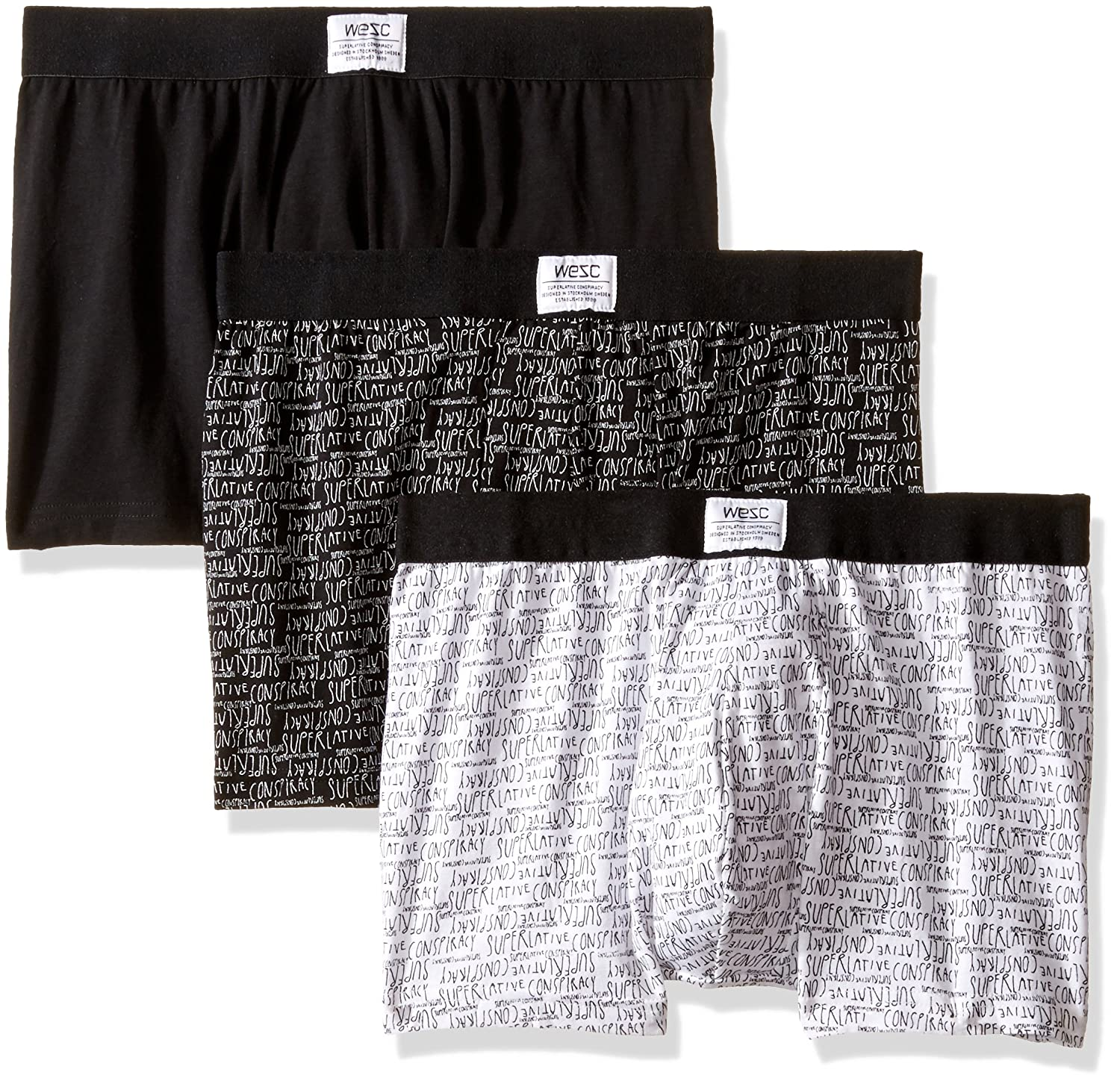 WeSC Men's 3-Pack Boxer Brief Mark WeSC Young Mens Child Code G164102