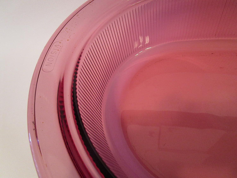 Pyrex Corning Cranberry Vision 4 Quart Dutch Oven Roaster