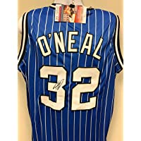 $125 » Shaquille O'Neal Orlando Magic Signed Autograph Custom Jersey Blue JSA Witnessed Certified