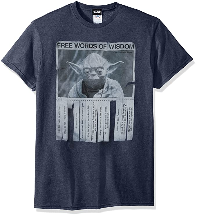 Amazon Star Wars Mens Words Of Wisdom T Shirt Clothing
