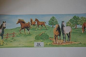 Pferdebordüre Kinderzimmer Rasch Selbstklebend Bordüre Pferde ...