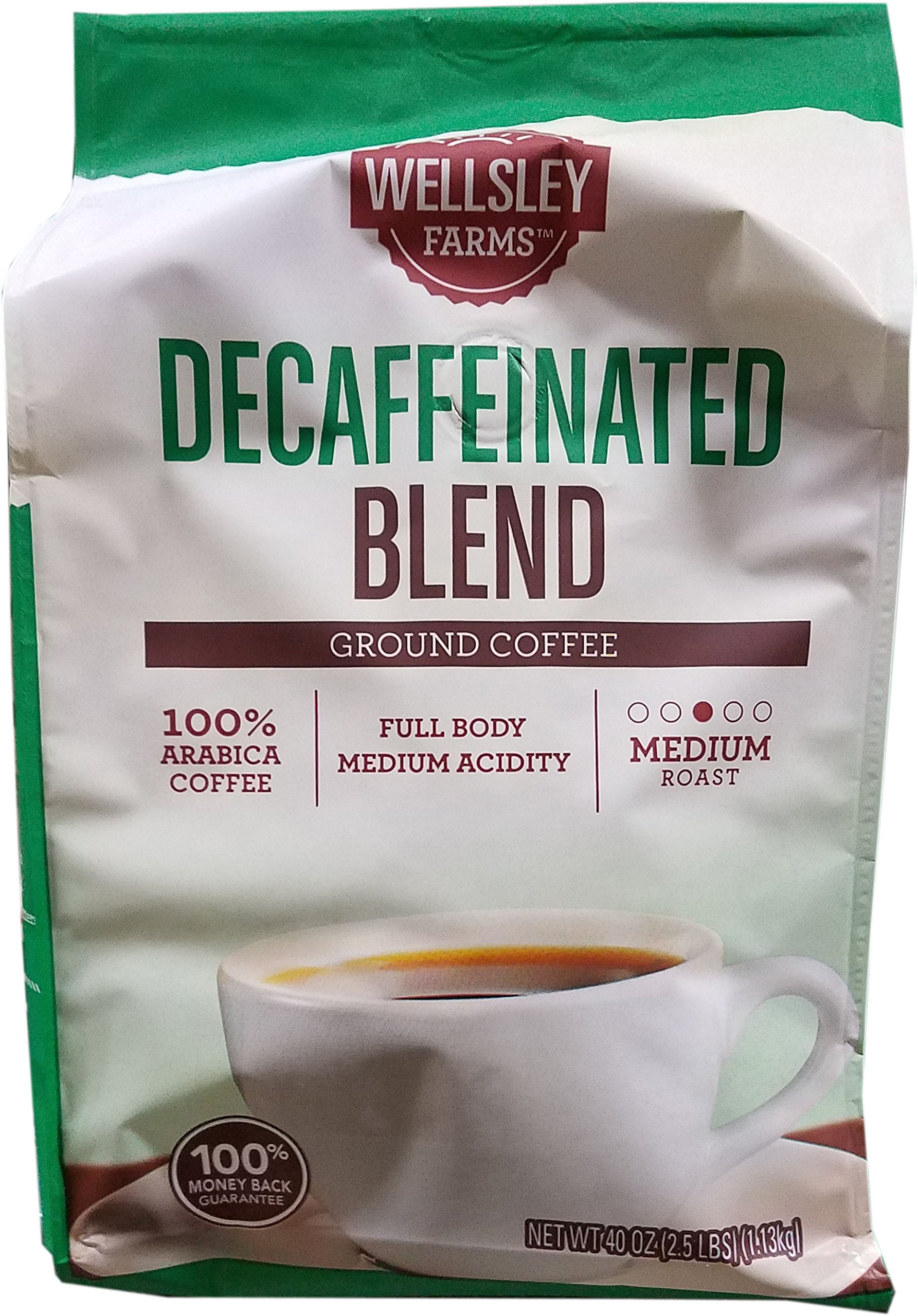 CDM product Wellsley Farms Decaffeinated Medium-Roast Ground Coffee, 40 Ounces big image