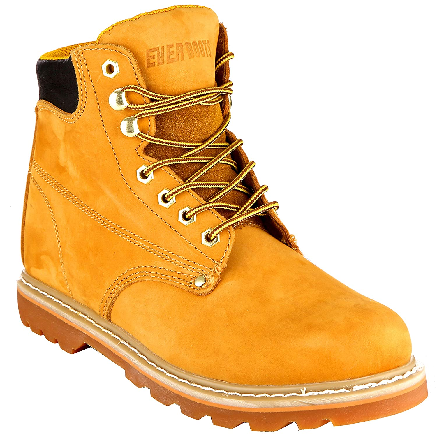 EVER BOOTS Tank Mens Soft Toe Oil Full Grain Leather Insulated Work Boots Construction Rubber Sole