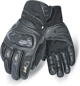 Jet Motorrad Handschuhe Sommer Leder Textil Knöchelschutz Pro Mesh M Schwarz Auto