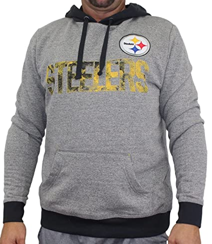 5ed060fb7 Image Unavailable. Image not available for. Color  Majestic Pittsburgh  Steelers NFL Gameday Men s Pullover Hooded Sweatshirt