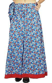 058d62e850 Single Layer Dress Cotton Floral Print Wrap Skirt Size Long Sari Sarong