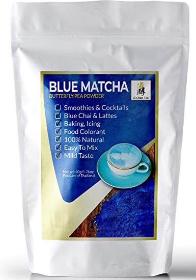 Zi Chun Teas - Natural Butterfly Pea Flower Powder from Thailand, Blue  Matcha - Vibrant Blue Color...