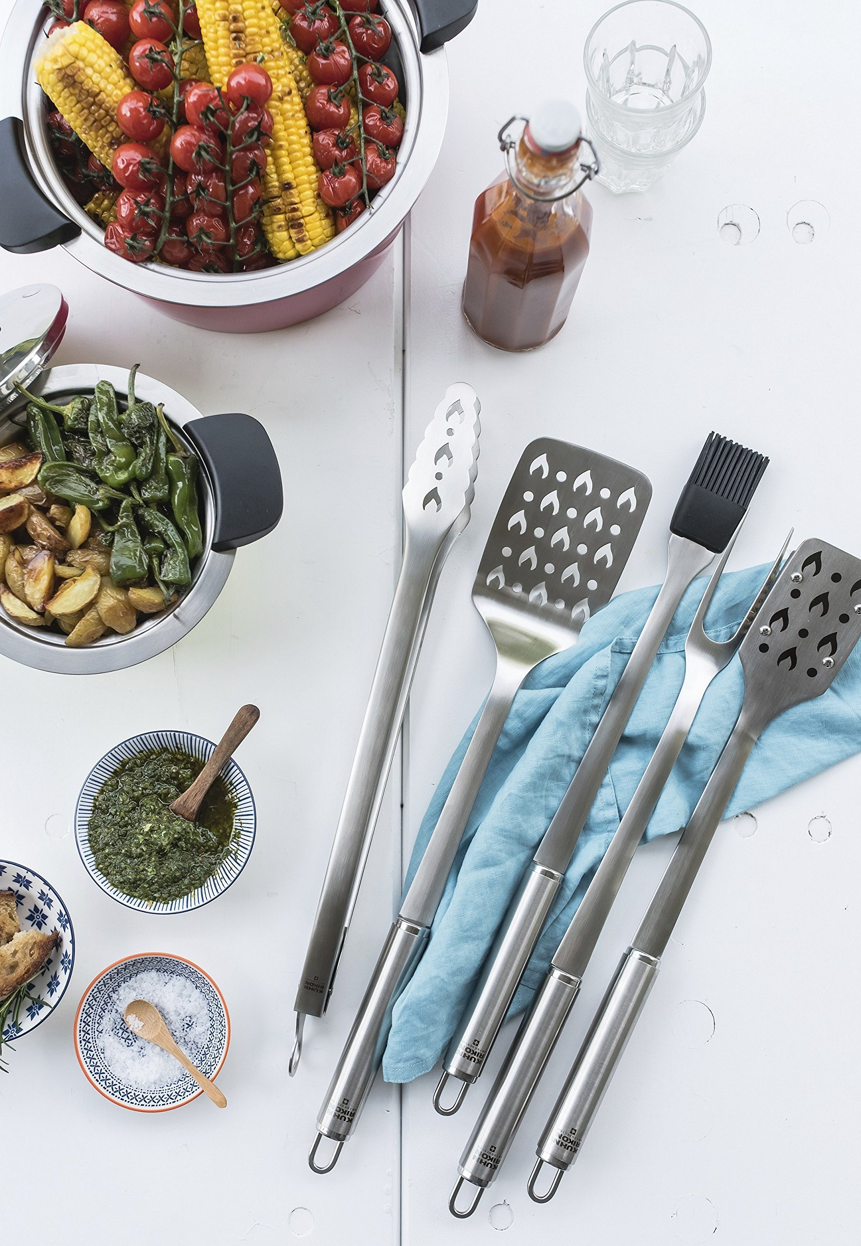 Kuhn Rikon 5 Piece BBQ Tool Set with Case, Stainless Steel by Kuhn Rikon (Image #4)