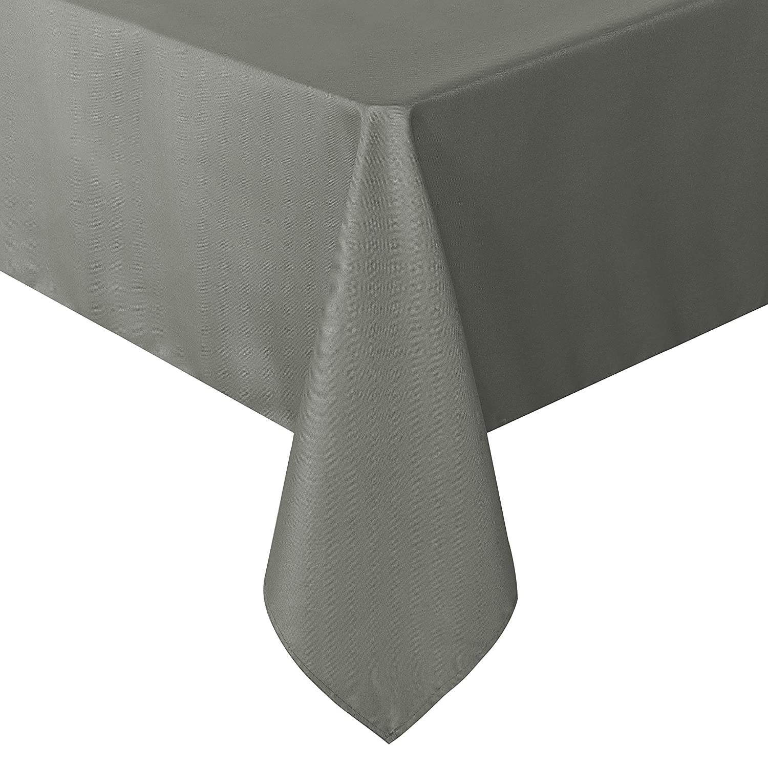 sancua Rectangle Tablecloth - 60 x 84 Inch - Stain and Wrinkle Resistant Washable Polyester Table Cloth, Decorative Fabric Table Cover for Dining Table, Buffet Parties and Camping, Light Grey