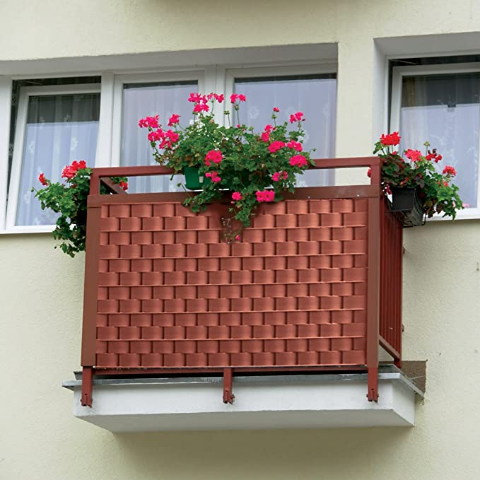 5 Jahre Garantie Thermoplast/® ZAUNSICHTSCHUTZSTREIFEN f/ür Garten Terrasse Balkon aus Polypropylen PP UV best/ändig 9,5cm x 52m = 4,94m2 Anthrazit RAL 7016