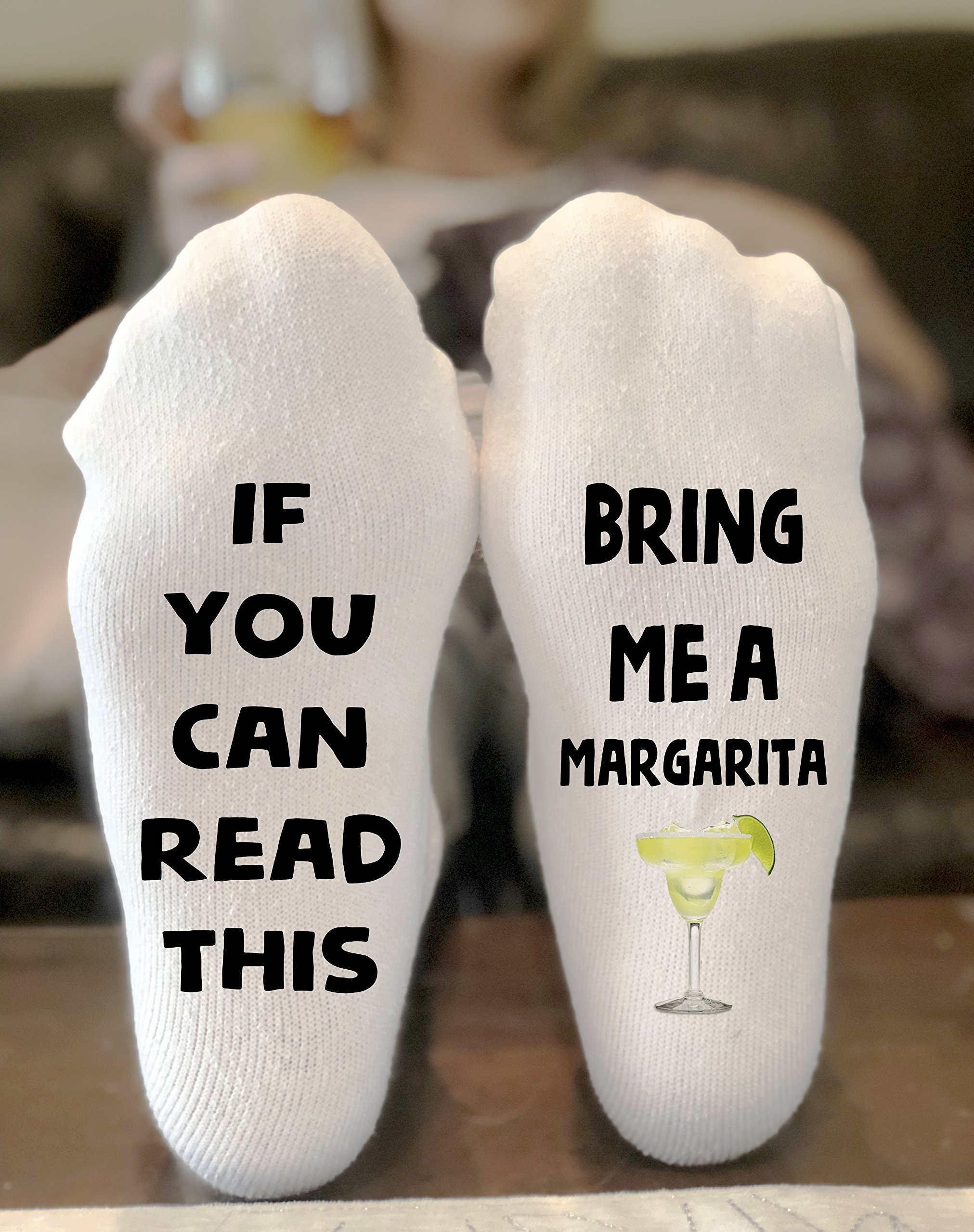 If You Can Read This Bring Me A Margarita Socks Novelty Funky Crew Socks Men Women Christmas Gifts Cotton Slipper Socks