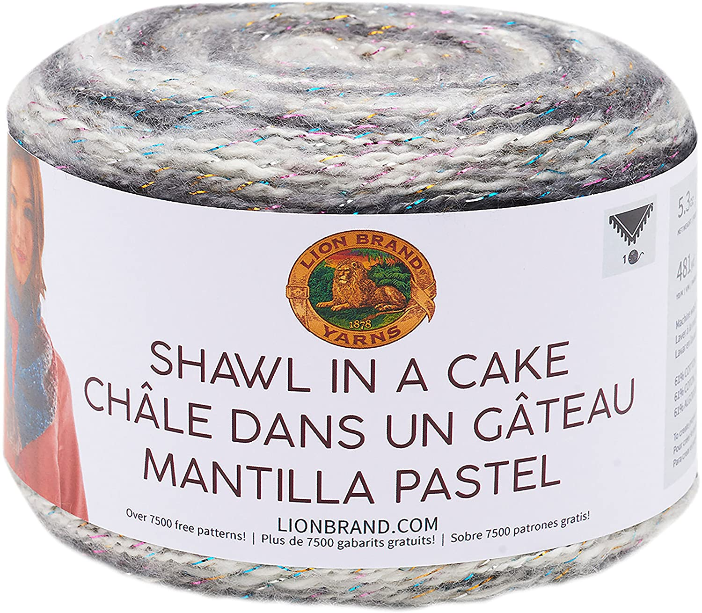 Lion Brand Hilo 455-300 Shawl en un hilo metálico para pastel ...