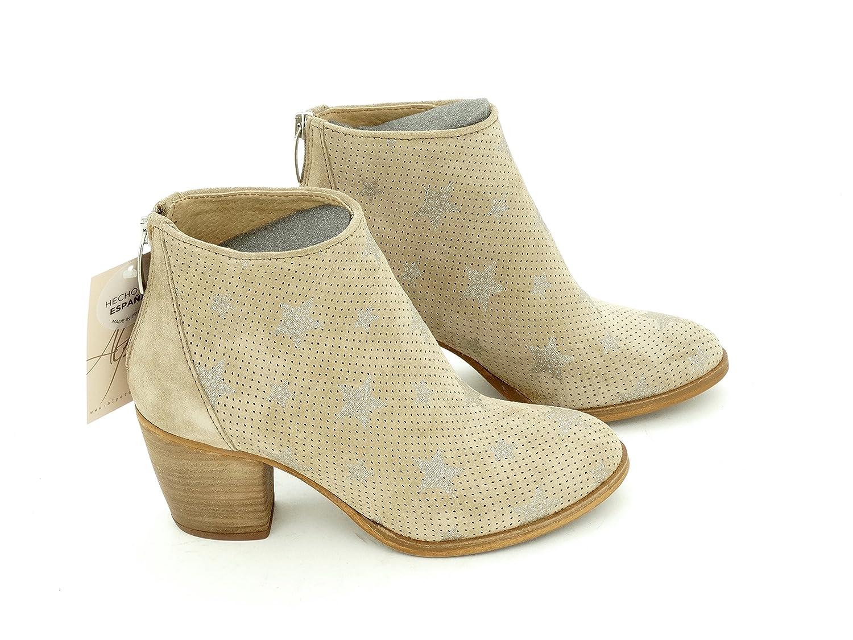 Alpe 3490 - Botines Camperos Mujer Estrellas. (41, Nude): Amazon.es: Zapatos y complementos