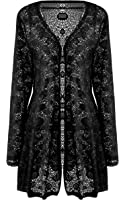Womens Plus Size Long Sleeve Floral Lace Crochet Bolero