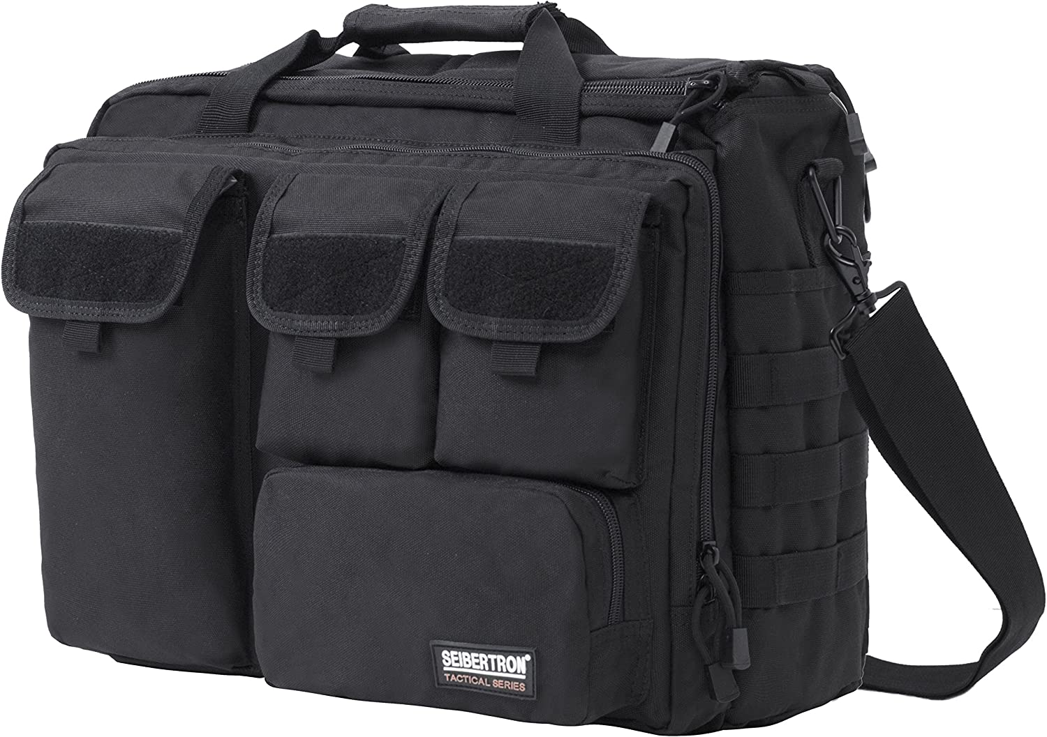 "Seibertron Pro-Multifunction Shoulder Messenger Bag Fit for 17.3"" Laptop Black"