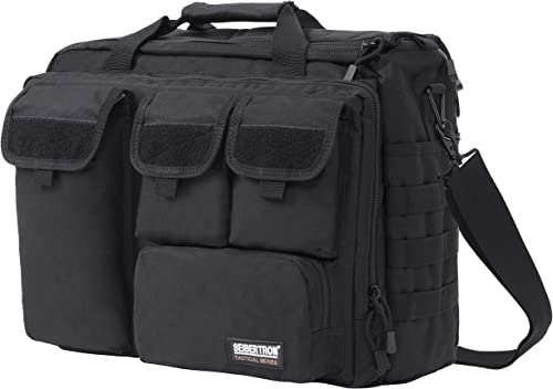 Seibertron Pro-Multifunction Shoulder Messenger Bag Fit for 17.3 Laptop Black