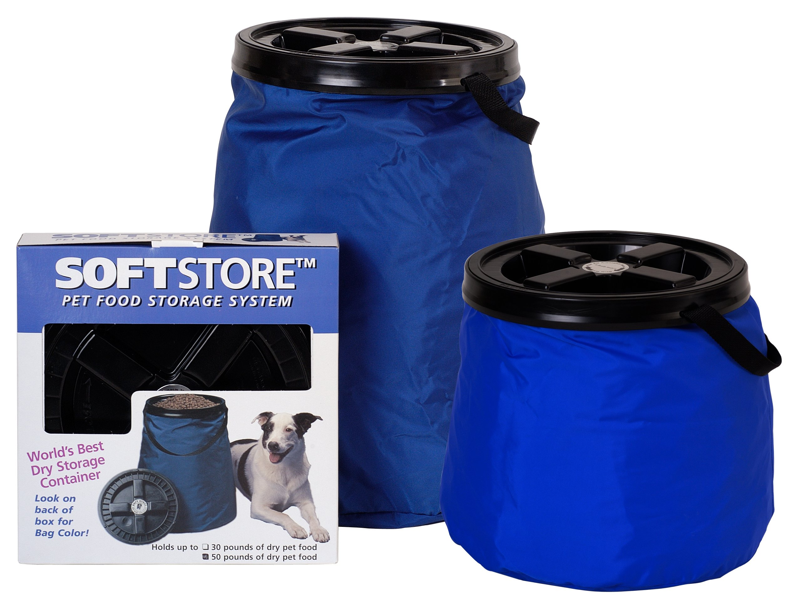 Vittles Vault SoftStore Collapsible, Airtight Pet Food Container 50 Pound Capacity, Blue by Vittles Vault (Image #2)