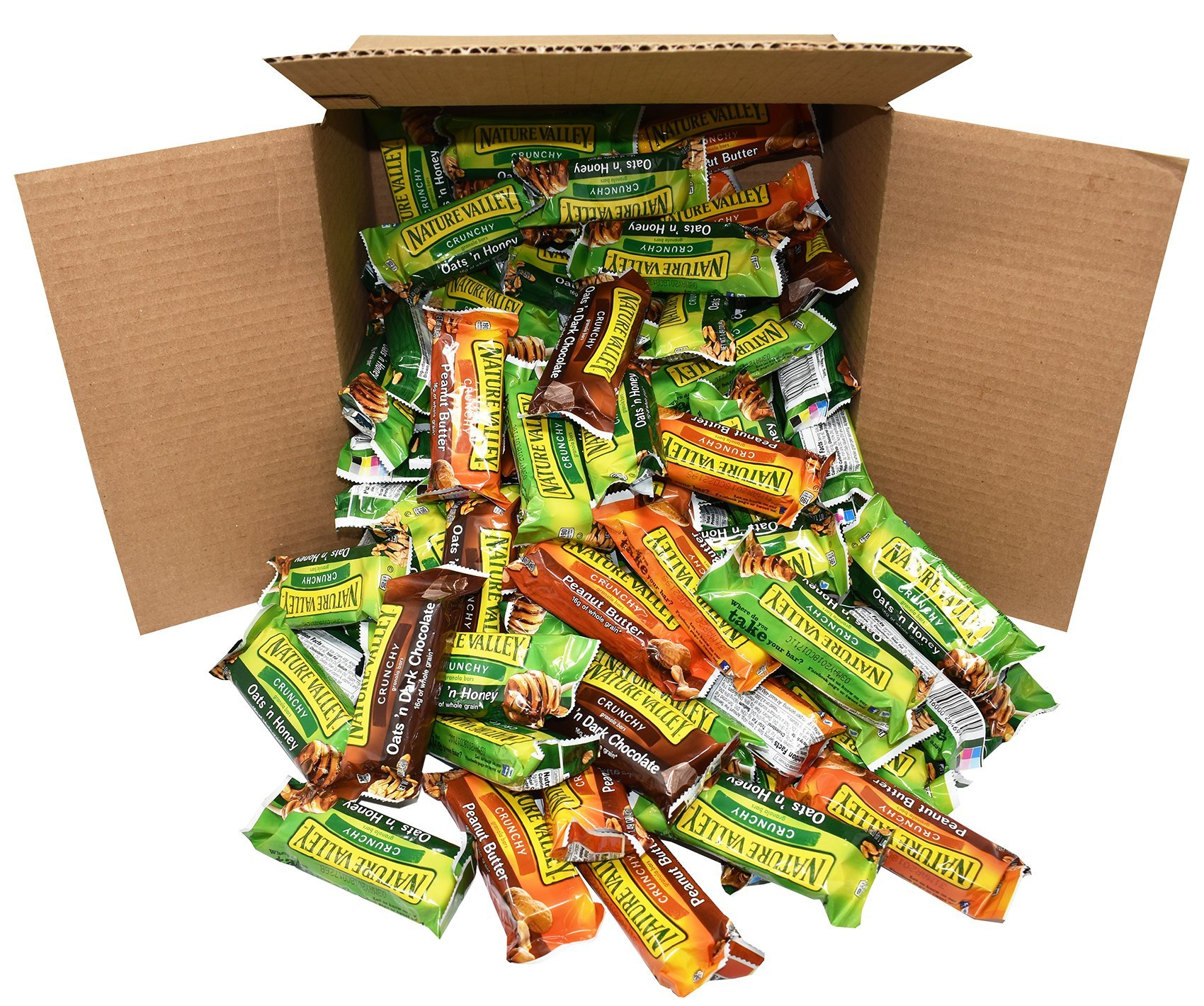 Office Snacks Nature Valley Bars Bulk Variety Pack of 120 - Office Snacks, School Lunches, Meetings