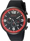 red line Men's RL-50057-BB-01 Apex 12 Analog Display Japanese Quartz Black Watch