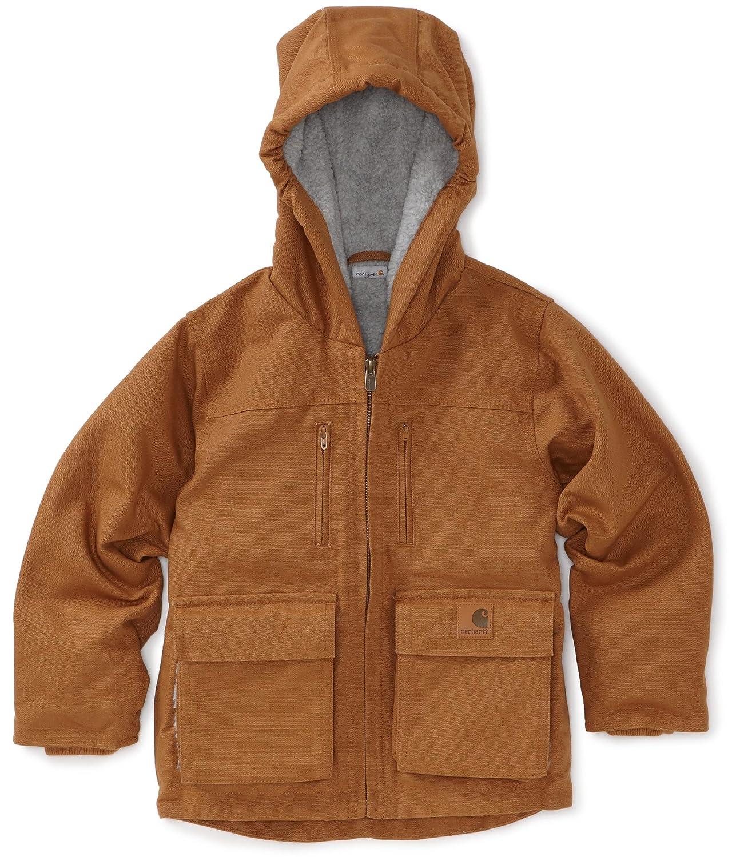 LT Apparel Group//Lollytogs CP8419 Carhartt Little Boys Jackson Coat Brown Small-7//8 Carhartt Kids