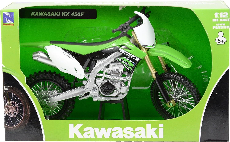 NEW-RAY DIE-CAST REPLICA KAWASAKI KX450F 2012 1:12 57483