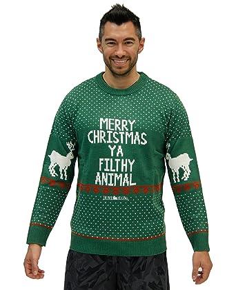 home alone merry christmas ya filthy animal green ugly christmas sweater adult medium