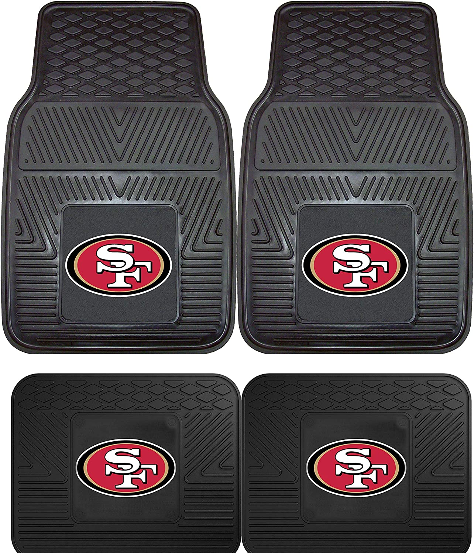 Wow Logo on All 4 Mats. San Francisco 49Ers Embroidered Logo Carpet Floor Mats