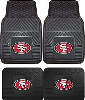 product image for San Francisco 49ers NFL 4pc Floor Mat Sets (Front and Rear) - Heavy Duty-Cars, Trucks, SUVs