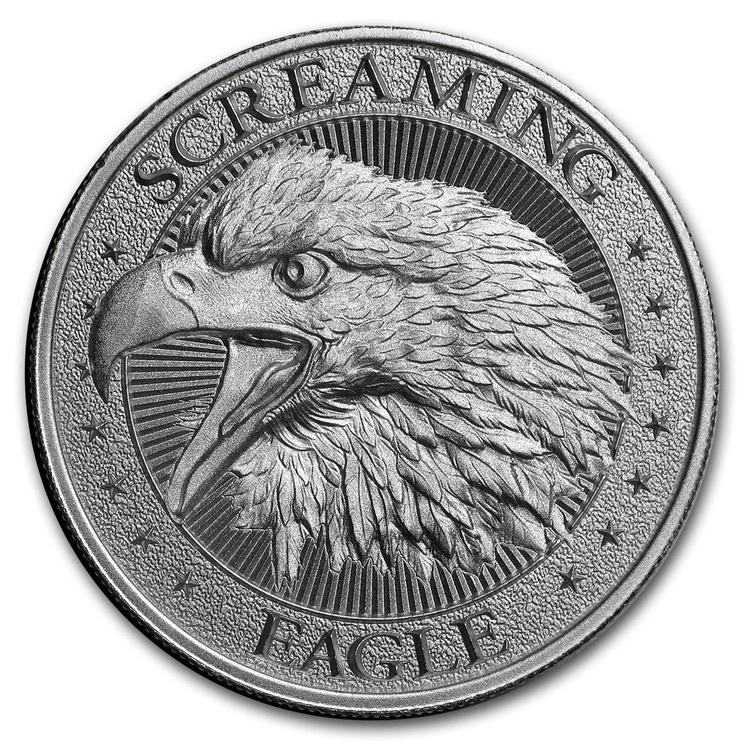 Screaming American Eagle 2 oz High Relief Round