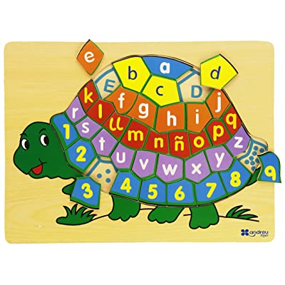 Andreu Toys Puzzle Tortue 30x 22,5x 1cm (Multicolore)