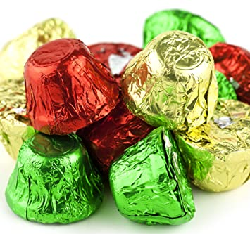 bulk christmas chocolate candy bells 1 lb bag