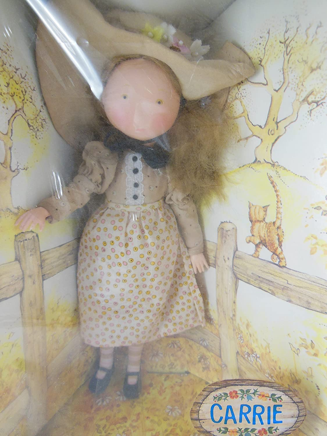"""Vintage Holly Hobbie Carrie人形11 """" New In Factory Sealedボックスポーズ自在Fully Jointed、Rootedヘア、サーフェスWashable   B07B7932WR"""
