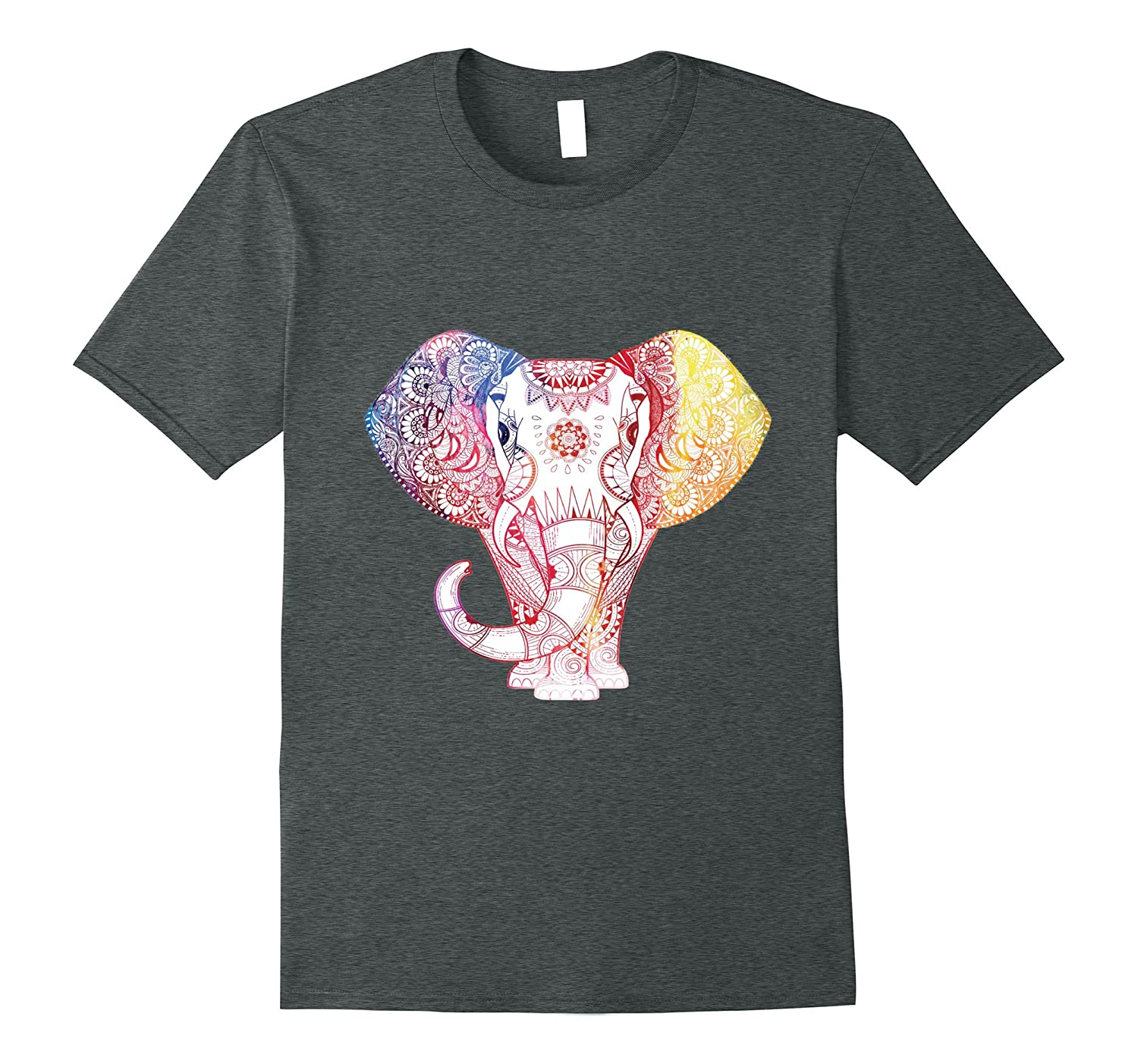 Beautiful elephant art tee perfect for yoga or relaxing-BN