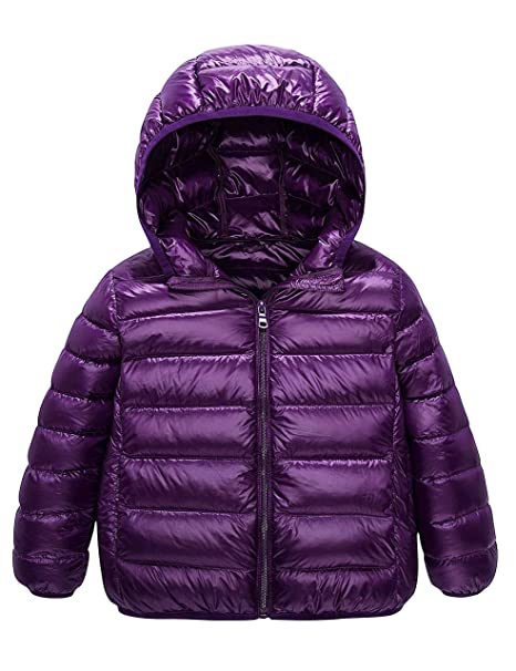 ffef5fdd76e Kids Down Coats, Spring Light Weight Packable Puffer Jacket with Hood  Pockets for Girls Boys