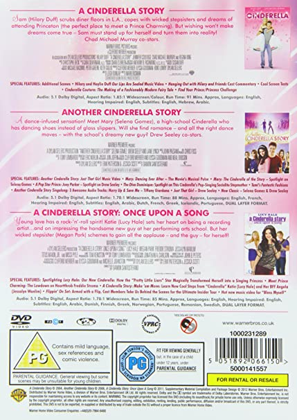 A Cinderella Story If The Shoe Fits Dvd Australia A Cinderella Story Collection 3 Film Dvd 2004 Amazon Co Uk Mark Rosman Damon Santostefano Dvd Blu Ray