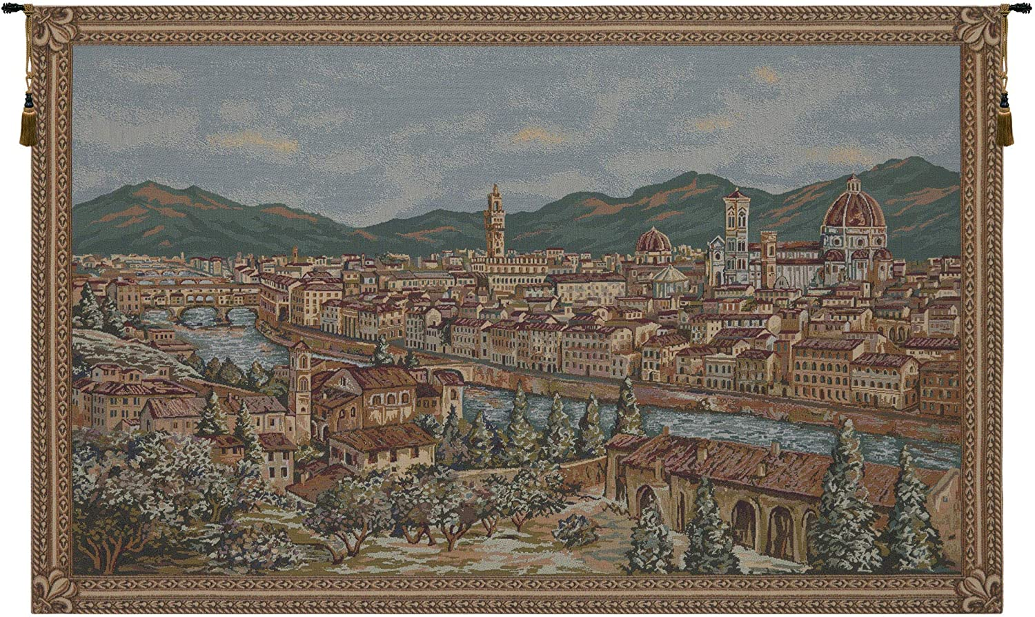 Charlotte Home Furnishings Inc Firenze By Alberto Passini Italian Small Tapestry Wall Hanging Viscose Cotton And Polyester Blend Wall Art 43 In X 26 In Home Decor Accents Everything Else