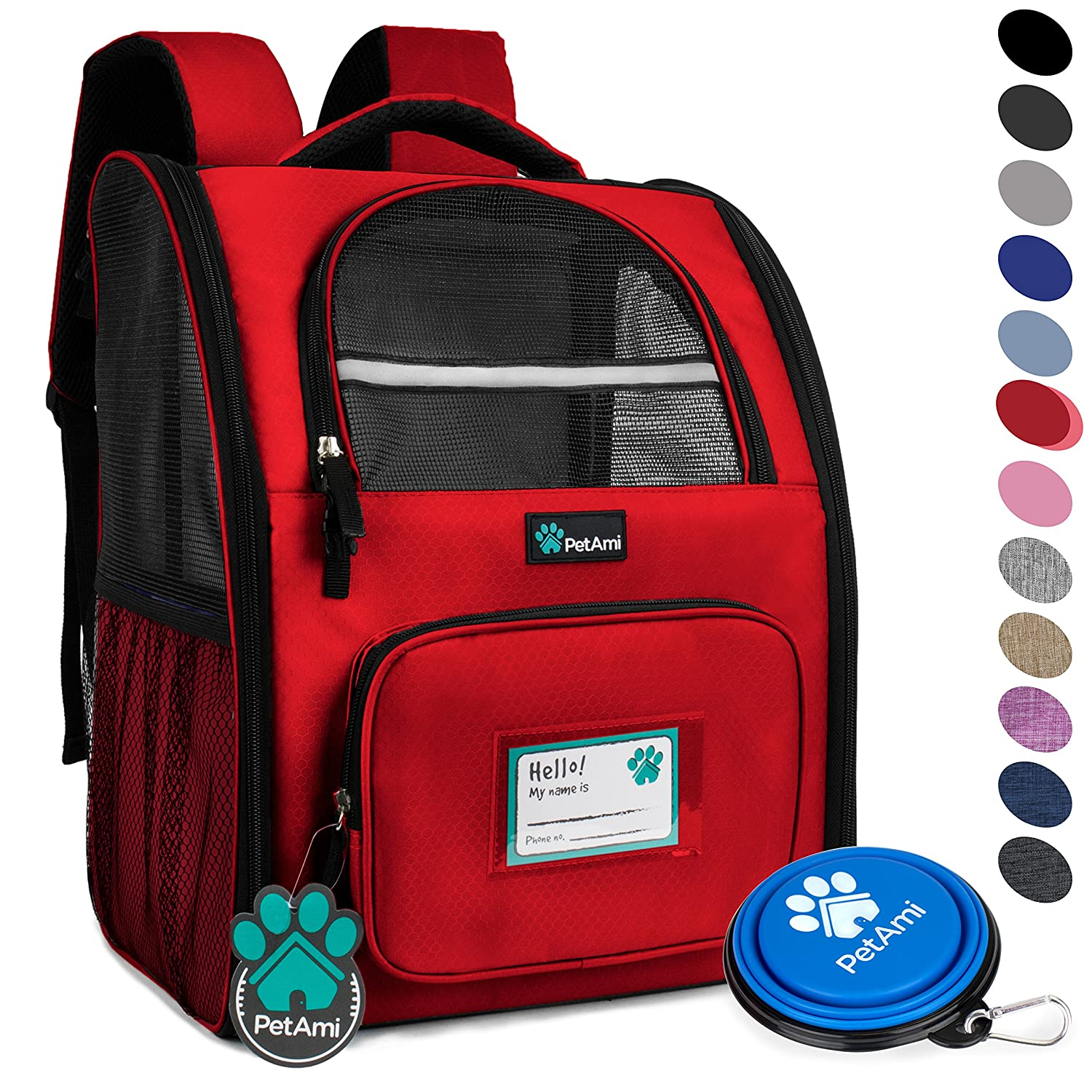 PetAmi Deluxe Pet Carrier Backpack for Small Cats and Dogs