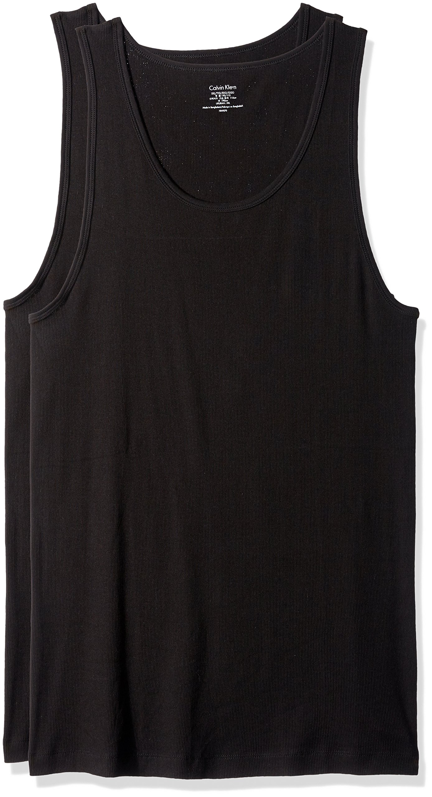 Calvin Klein Men's Cotton Classics 3 Pack Tank Tops, Black, XX-Large