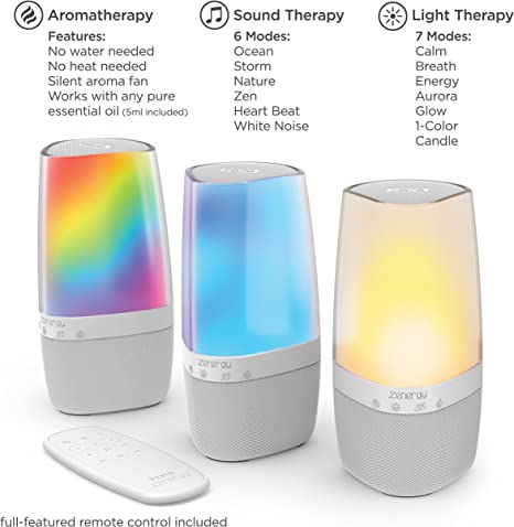 iHome iZABT50WC Aroma BT Speaker with Lighting White