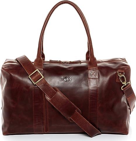 Grand sac de voyage cuir souple couleur gold